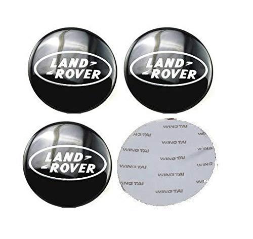 13 Autosupply 4 x 65 mm – 6,35 cm Land Rover Negro Logo Rueda Centro calcomanías Emblema Insignia Rueda Hub Tapas Centro Cubierta para Range Land Rover Discovery Sport Velar Evoke