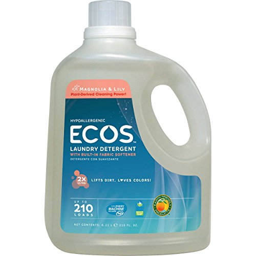 Earth Friendly Products Ecos Liquid Laundry Detergent, Magnolia and Lilies, 210 Ounce