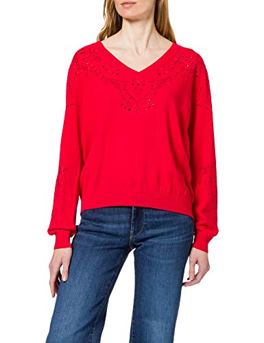 Desigual JERS_GANTE Jersey, Rojo, M para Mujer