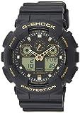 Casio Men's G-Shock GA100GBX-1A9 Black Polyurethane Japanese Quartz Sport Watch