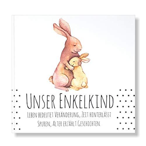 Babytagebuch, Geschenk Unser Enkelkind, Geschenk zur Geburt, Weihnachtsgeschenk Oma und Opa, Erinnerungsalbum Kind, Geschenk Taufe