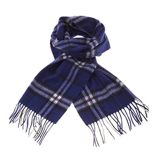 Lyle & Scott, sciarpa in lana di agnello Thomson Navy Taglia unica