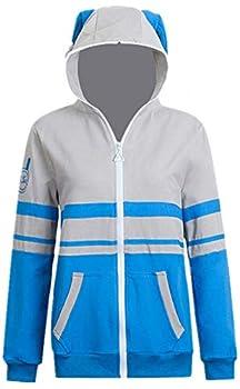 HonRmon Love Live Jacket Sonoda Umi Rin Cosplay Nishikino Maki Costume Hoodies Women Girl Coat Halloween Outfits  Large Blue