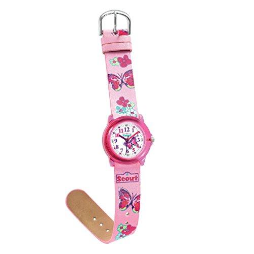 Scout Mdchen Analog Quarz Uhr mit Lederimitat Armband 280305013