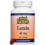 Natural Factors, Lutein 40 mg, Antioxidant Support for Healthy Eyes and Skin with Zeaxanthin, 60 softgels (60 Servings)