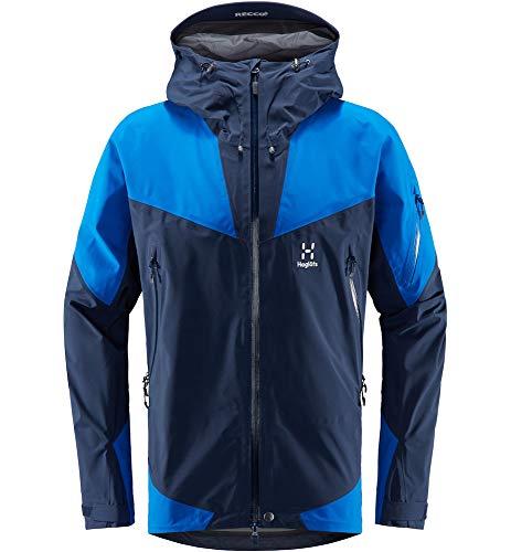 Haglöfs Skijacke Herren Skijacke ROC Spire Jacket Men Wasserdicht, Winddicht, Atmungsaktiv, Small Tarn Blue/Storm Blue XXL XXL