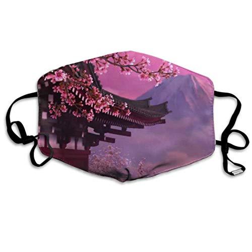Japan Pink Cherry Blossom Mount Fuji Mode Staubschutz Mundabdeckung Mundabdeckung Lustige Bunte Mundabdeckung