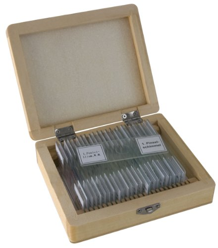25 Mikroskop Dauerpräparate von Bresser in edler Holzbox