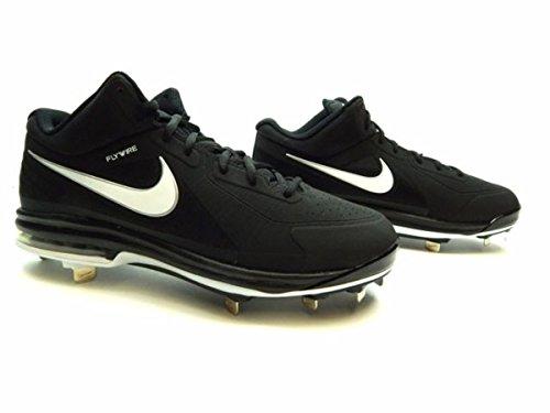 Nike Men's Air Max MVP Elite 3/4 Metal Baseball Cleats (Black/White, 10 D(M) US)