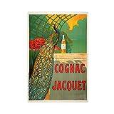 RBIX Arte de la cocina Jacquet de coñac, Circa 1930 Póster de lona para decoración de dormitorio, deportes, paisaje, oficina, habitación, decoración de regalo Unframe: 60 x 90 cm