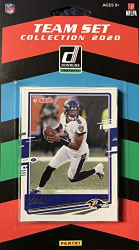 Baltimore Ravens 2020 Donruss Factory Sealed 11 Card Team Set with Lamar Jackson and Rated Rookies of J.K Dobbins and Devin Duvernay Plus 8 Other Cards