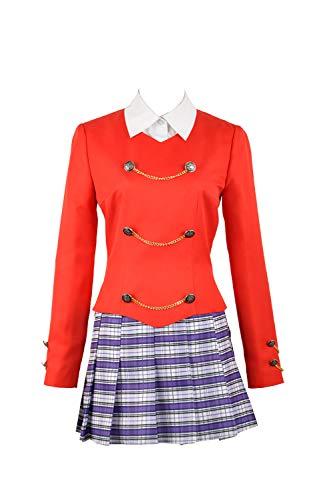 Cosplayfly Heathers The Musical Rock Musical Chandler Cosplay Kostüm Bühne Schule Damen Kleid Konzert Outfit OL Anzug