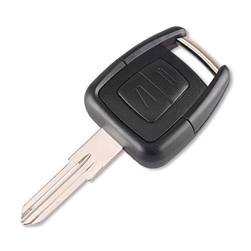 Mando a Distancia 2 Botones Carcasa de Llave de Coche Fob para Vauxhall Opel Astra Zafira Vectra Omega con Hoja HU46