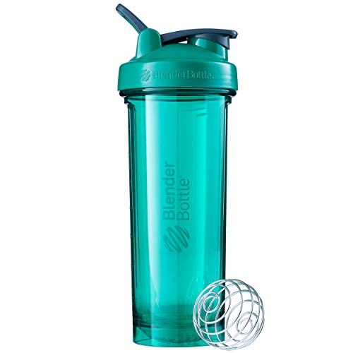 BlenderBottle Shaker Bottle Pro Series Perfect for Protein Shakes and Pre Workout, 32-Ounce, Emerald Green