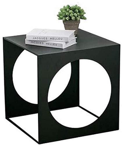 H-CAR - Tavolino da salotto in ferro battuto, stile creativo, tavolino da salotto, camera da letto, tavolo da lettura per balcone, tavolino da caffè (dimensioni: 45 45 45 cm)