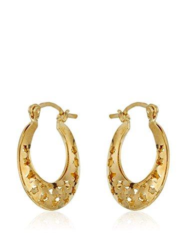 Córdoba Jewels | in Goldfilled Gold 14/20Laminat Design Ohrringe Kreolen Stern
