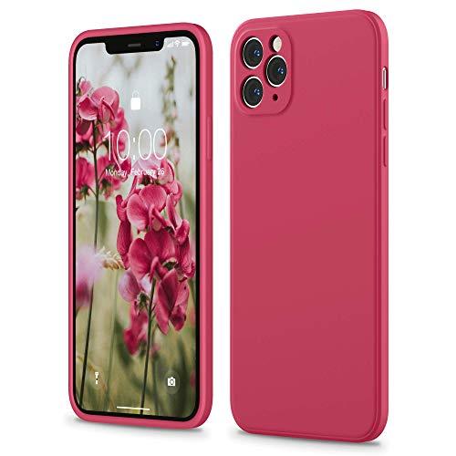 SURPHY Hülle Kompatibel mit iPhone 11 Pro Hülle Silikon, iPhone 11 Pro Hülle 5,8 Zoll, Flache Kante Silikon Handyhülle für iPhone 11 Pro 5,8'' Silikon Slim Dünn Protective Hülle Schutzhülle, Hibiskus