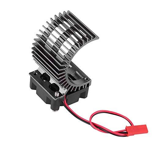 Motor Heat Sink, Disipador de Calor con Ventilador para 1/10 Escala El¨¦ctrico RC 540/550 Motor(Negro)