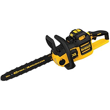 DEWALT DCCS690M1R 40V MAX Lithium-Ion XR Brushless 16 in. Chainsaw with 4.0 Ah Battery (Certified Refurbished)
