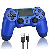 YU33 Wireless Controller Compatible with PS4 - YU33 Remote Joystick Gamepad Compatible with Playstation 4 with Charging Cable and Double Shock (Red, 2021,New)