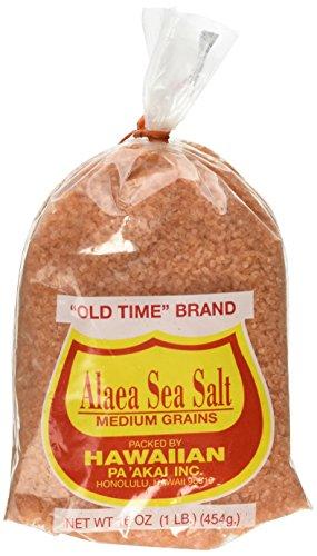 Hawaiian PaAkai Inc, Alaea Sea Salt Medium Grains, 16 oz