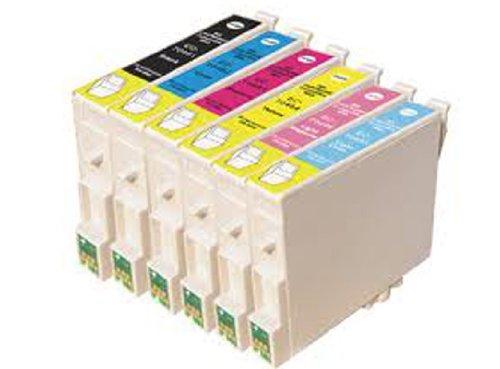 6 Compatibile T0487 Cartucce d'inchiostro per Epson Stylus Photo R200 R220 R300 R300M R320 R325 R330 R340 R350 RX300 RX320 RX500 RX600 RX620 RX640