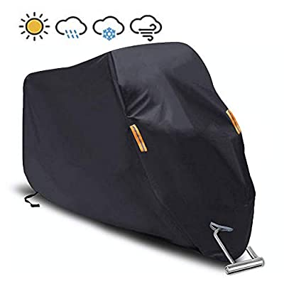 """Motorcycle Cover Waterproof/Dustproof/Snowproof/UV Protection Motorcycle Covers 5 Layer Breathable fabric with cotton fit for most types?""""102"""""""" L x""""41"""" W x""""49"""" H?"""