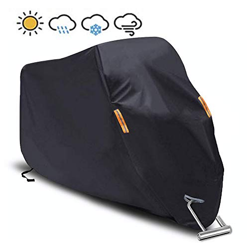 Motorcycle Cover Waterproof/Dustproof/Snowproof/UV Protection Motorcycle Covers 5 Layer Breathable fabric with cotton fit for most types(quot102quotquot L xquot41quot W xquot49quot H)