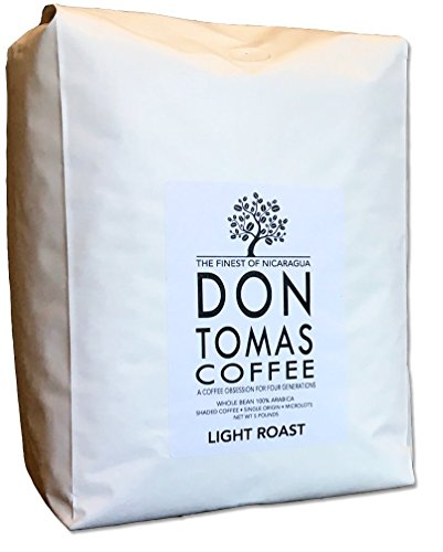 5 LB Light Roast Coffee Beans Don Tomas Nicaraguan Coffee - Rainforest Alliance Certified Farm