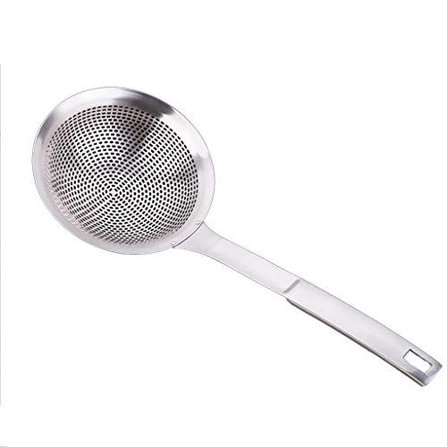 Verdicken 304 Edelstahl Seiher Küche Küche erhöhen Anzahl Zaun Frying Filter Öl ablassen Angeln Löffel Nudeln (Size : B)