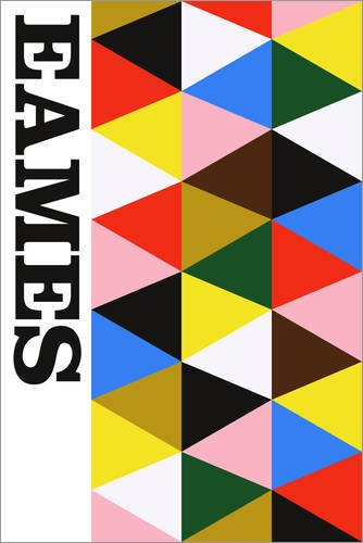 Poster 40 x 60 cm: Eames - Bauhaus von The Usual Designers - hochwertiger Kunstdruck, neues Kunstposter