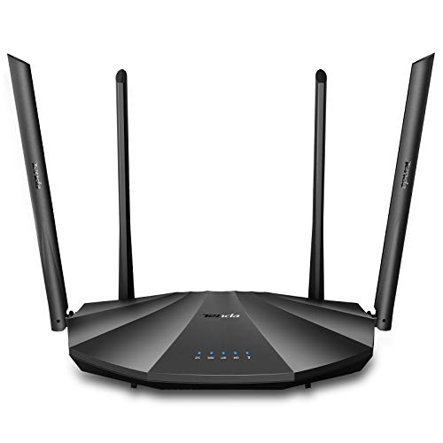 Tenda AC19 – AC2100 Router Gigabit Wi-Fi Dual Band, Configurazione Semplice, 2.4 GHz e 5 GHz, 4 Porte Gigabit, USB 2.0, MU-MIMO, per Fibra Ottica, Rete Ospite, IPV6