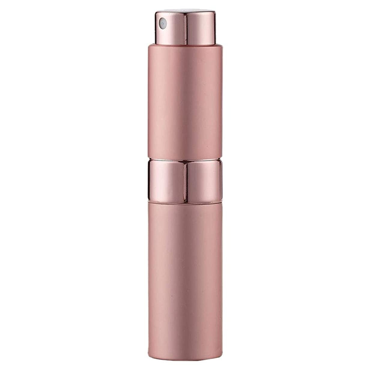 クランプ根絶する呼び出すLadygogo 香水アトマイザーセット 回転プッシュ式 スプレー ボトル 香水スプレー 詰め替え 持ち運び 身だしなみ 携帯用 男女兼用 (ピンク)