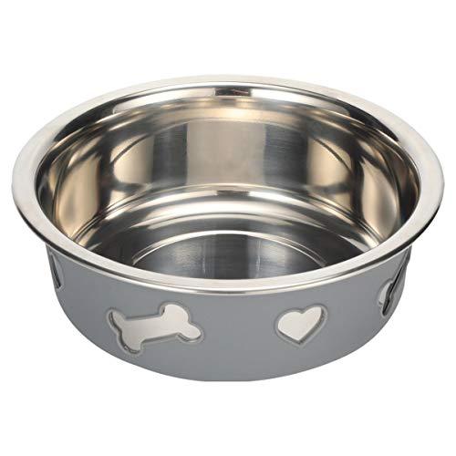 Happilax Extra Großer Hundenapf mit Rutschfestem Silikon-Mantel für Große Hunde, XL Edelstahl-Futternapf, 1500 ml