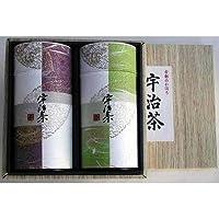 かほる園 上級和染缶2本箱入 高級煎茶栂尾140g かぶせ茶上宇治香140g