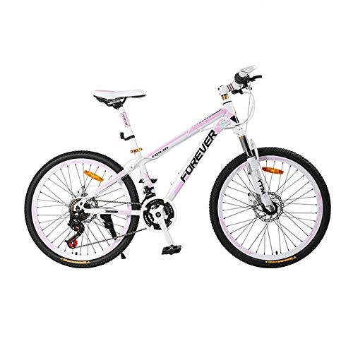 GQFGYYL-QD Mountain Bike with Adjustable Seat and Shock Absorption, 26 Inches Wheels 24 Speed Dual Disc Brake Aluminum Alloy Mountain Bicycle, for Adults Outdoor Riding
