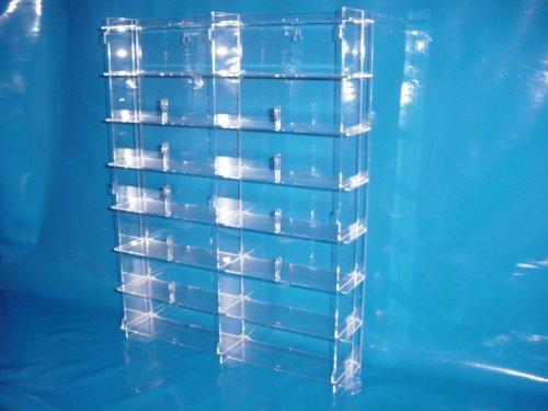 Setzkasten für Brillen aus Acrylglas SL011 Rückwand Schwarz