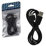 ZedLabz de sincronización de datos y carga USB Cable para Sony PS Vita 1000consola portátil–1M), color negro