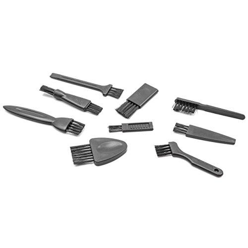 vhbw Set de cepillos de Limpieza para máquinas de Afeitar y cortapelos por ej. de AEG, Braun, Grundig, Norelco, Panasonic, Philips, Remington, Wella