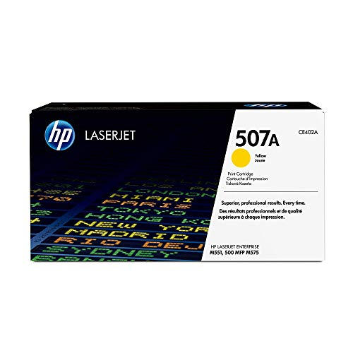 HP 507A (CE402A) Gelb Original Toner für HP Laserjet Enterprise M551, Color M575, Pro 570