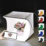 PULUZ Foto Studio Leuchtkasten Tragbar 20 x 20 x 20cm Lichtzelt 2 LED Panels 6000K Mini 2 x 3,5W...