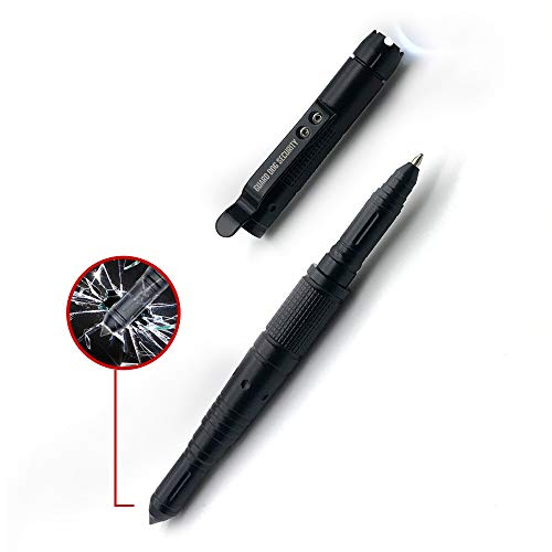 Guard Dog Security Self Defense Tactical Pen and Windows Breaker, 30 Lumen Flashlight with Gift Box