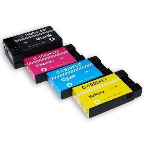 Kompatible PGI-1500XLY Druckerpatronen, hohe Kapazität, Gelb, für Canon PGI-1500 PGI-1500Y XL PGI-1500XLY Canon Maxify MB2050 MB2150 MB2350 MB2750 13 ml je Farbe
