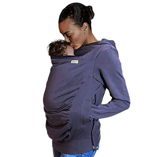Boba Hoodie, Grey (Large) Baby Carrier Cover Hooded Sweatshirt