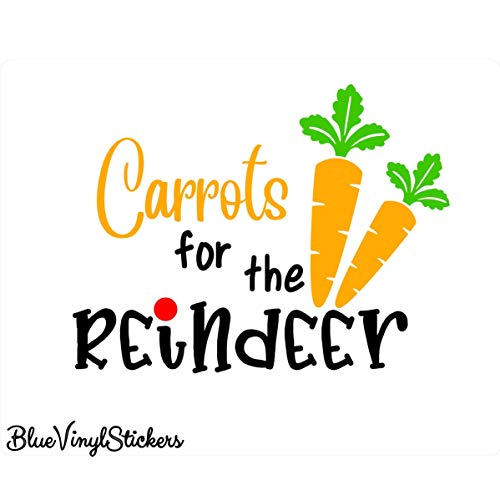 Karotten für Rentier, Rentier-Aufkleber, Rentier-Lebensmittel-Aufkleber, Rentier-Aufkleber, Keksdose, Karotten, Kekse, Rentier, Weihnachts-Aufkleber