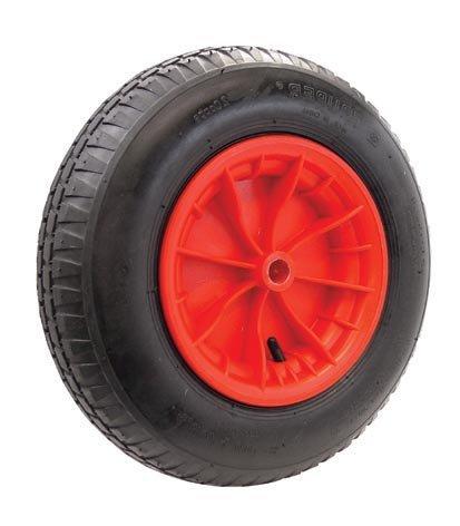 Kruiwagenwiel 400x100 mm plastic velg