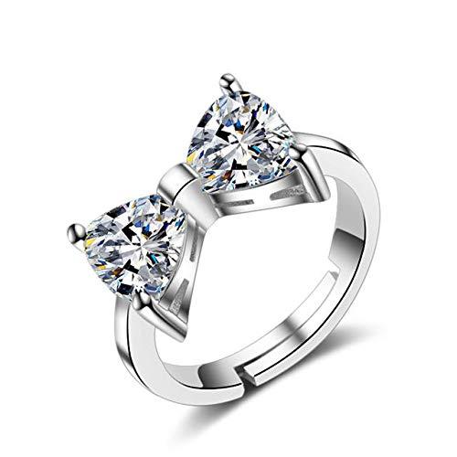 DASFF 925 sterling zilver verlovingsring fonkelende maan en ster vingerringen voor vrouwen modesieraden geschenken