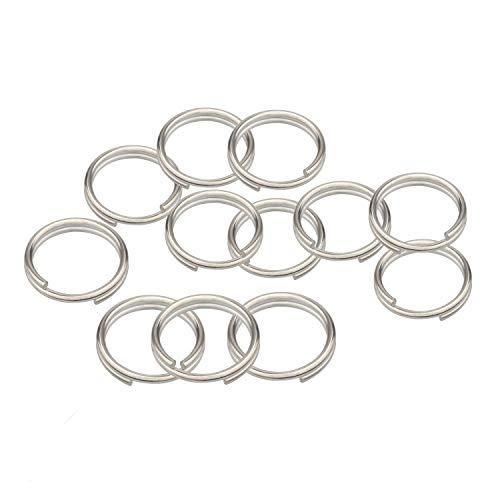 Split Ring, Wisdompro 12 Pack of Small Titanium Alloy Split Rings (Diameter: 12mm)