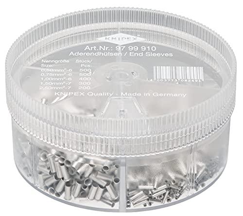 KNIPEX Sortimentslådor med oisolerade ändhylsor 97 99 910