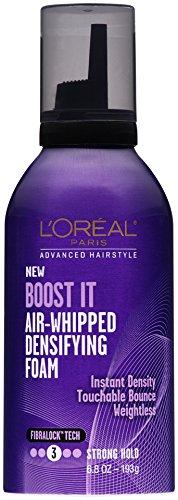 L'Oral Paris Advanced Hairstyle BOOST IT Air Whipped Densifying Foam, 6.8 fl. oz.